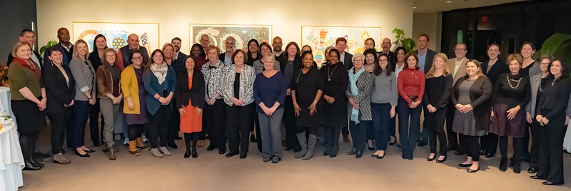 Group shot of attendees of 2018 Tauck Cohort Gathering