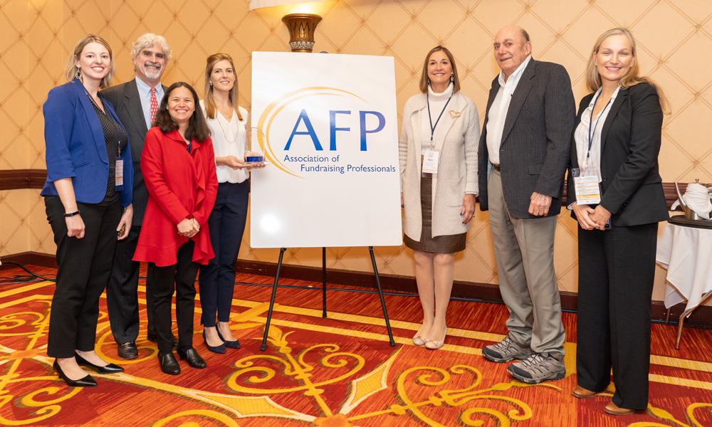 Tauck Family of Wilton being recognized at the Association of Fundraising Professionals